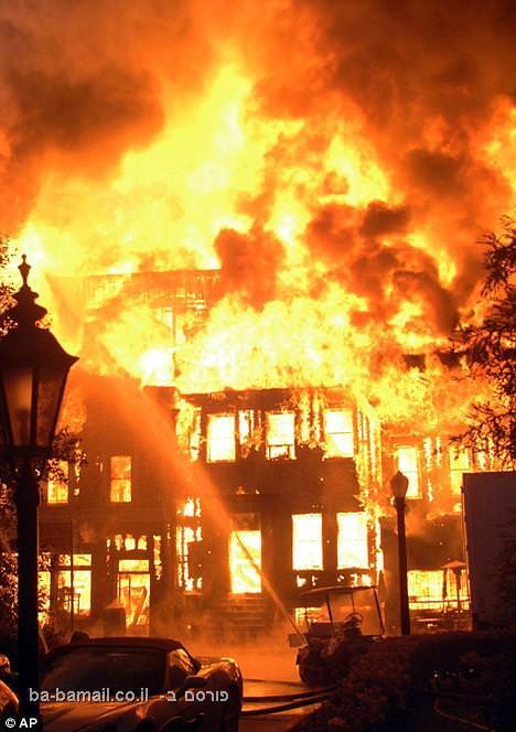 בניין, שריפה, בדיחה, בדיחה מצחיק, קורע