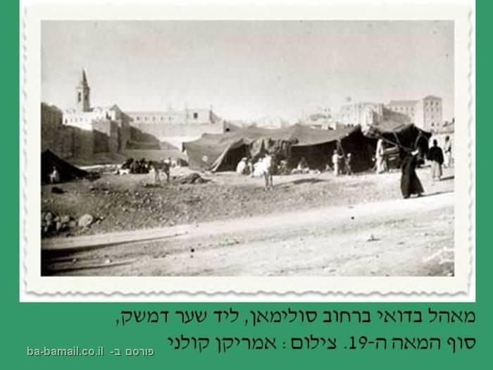 ירושלים, פוטו פריזמה, חנה ואפרים דגני, מאהל בדואי