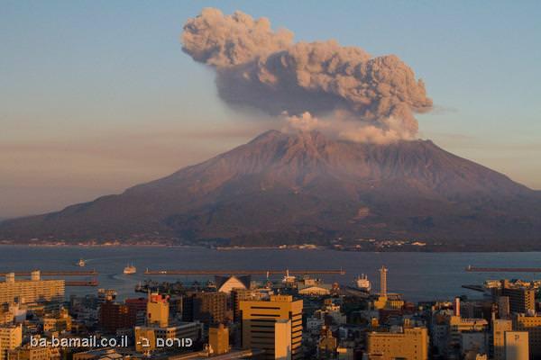 הר געש סקורה-ג'ימה, יפן