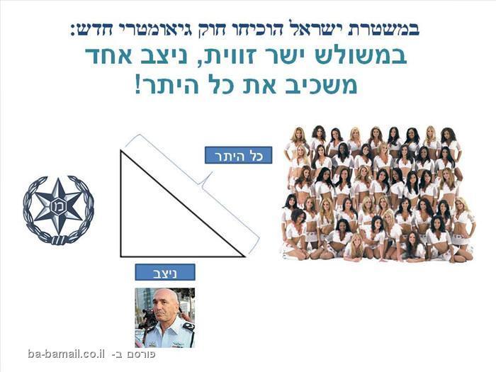 הגיאומטריה במשטרת ישראל - מעולה!