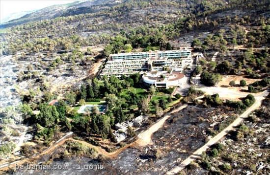 מלון יערות הכרמל אחרי השריפה