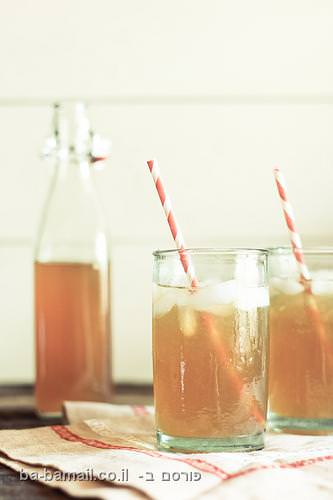 לימונדת תה שחור מרעננת לקיץ