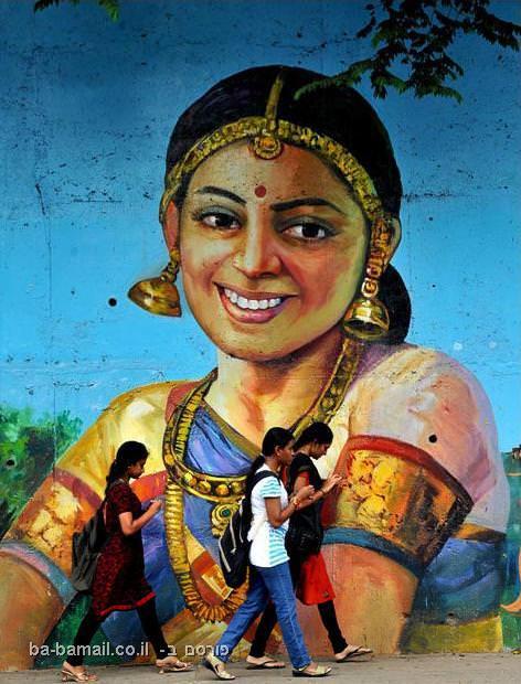 ציור קיר, אומנות, הודו, עולם, תמונה
