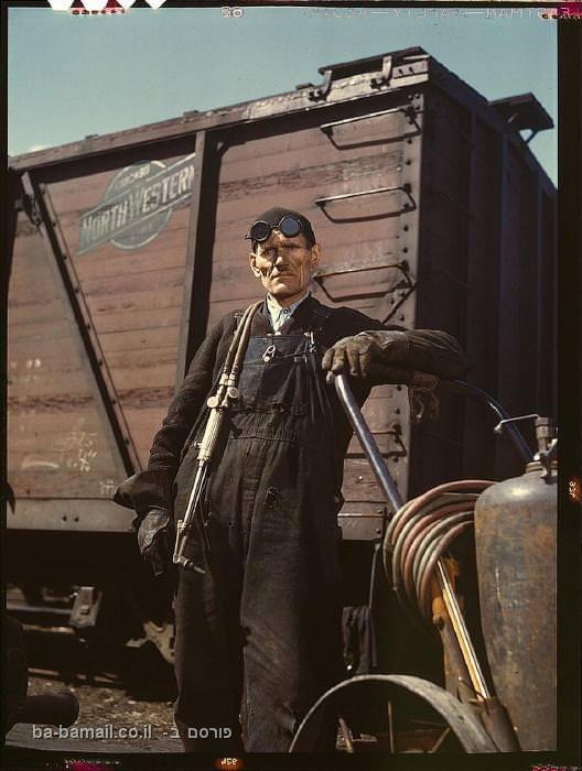 ארה'ב, אמריקה, שנות השפל, מלמחת העולם השניה, רתך, רכבת, שיקגו