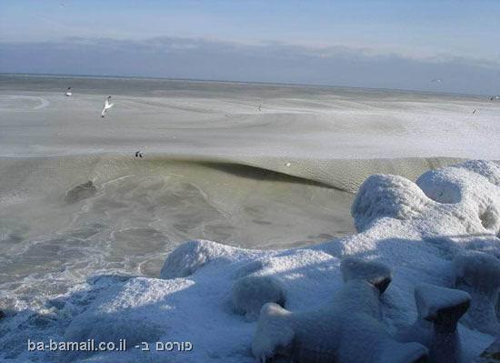 ים קפוא, קור, הים השחור, רומניה, ים