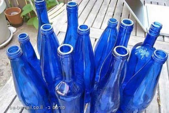 נהר, מטבח, עבודת יד, שיש, נחל, זכוכית כחולה, בקבוקים