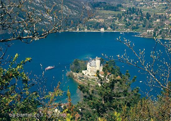 אגם, אגם אנסי, צרפת, טירה