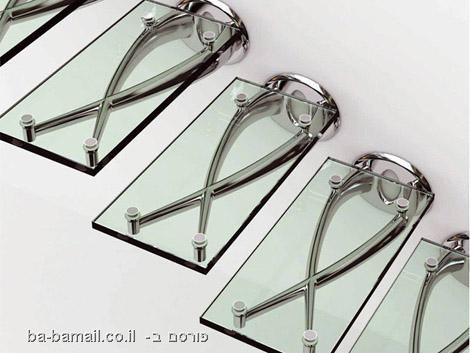 מדרגות, זכוכית, שקוף, תמיכה