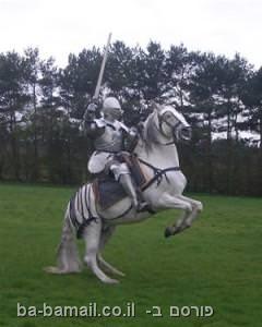 אביר, אביר על סוס לבן