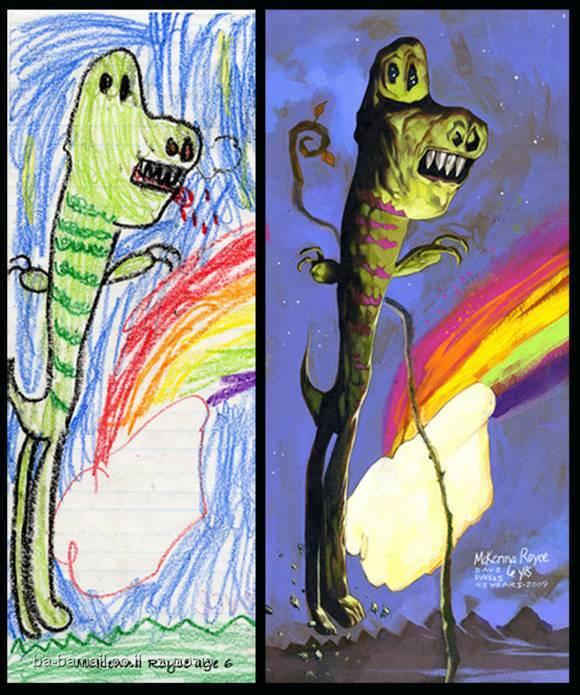 ציור, ציורי ילדים, אמנות, השראה