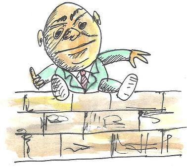 איש יושב על גדר