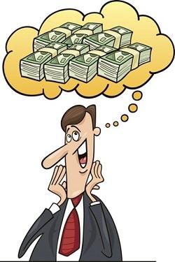 איש חושב על כסף