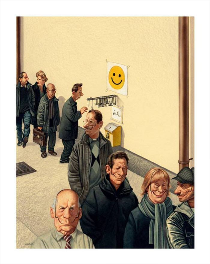 תמונה מצחיקה של אנשים מחייכים