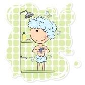 אישה מתקלחת