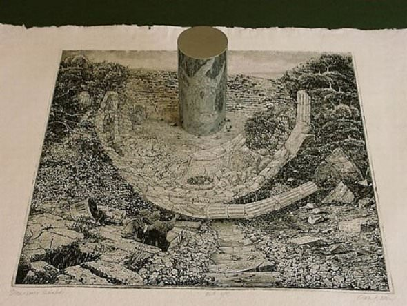 'אומנות מראה אנאמורפית'- ציור בזווית קצת אחרת (עריכה)