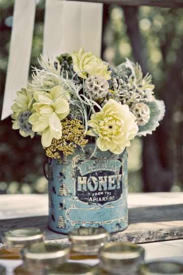 עיצובי פרחים מקופסאות שימורים