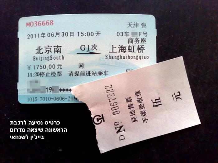 הרכבת המהירה בין בייג'ין לשנחאי