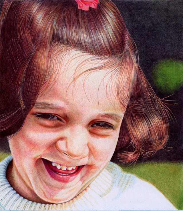 ציורים ריאליסטיים עם עט כדורי