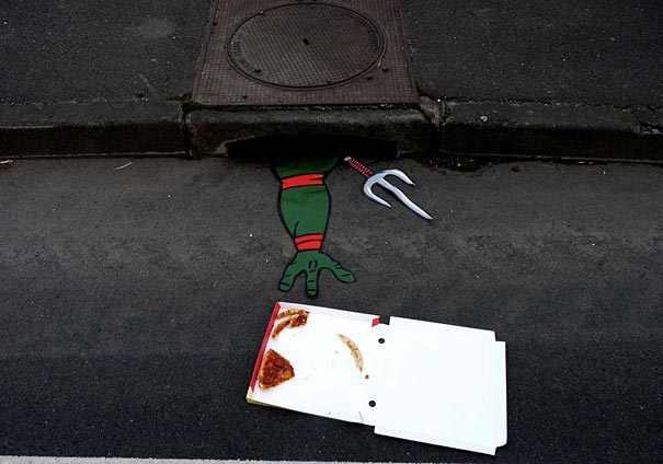 ציורים מיוחדים של אמנות רחוב