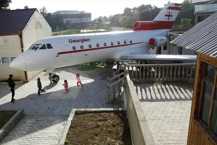 גן בתוך מטוס