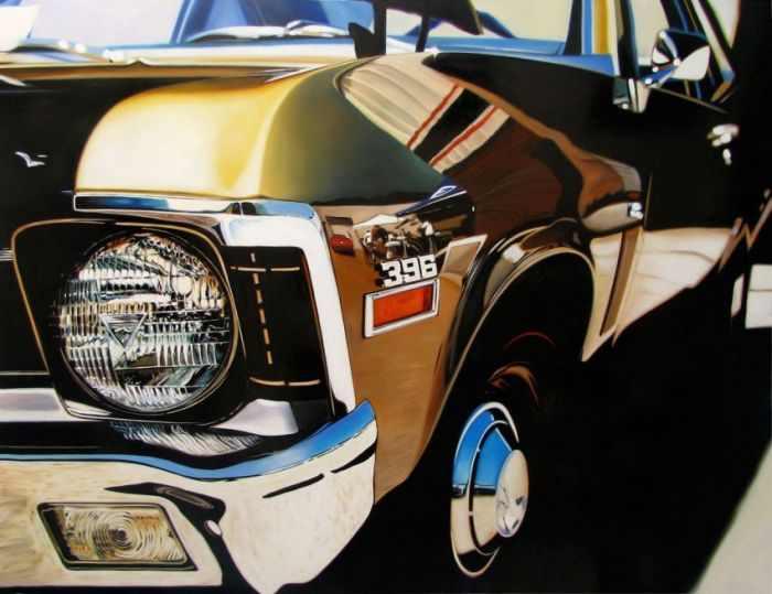 ציורי מכוניות היפר ריאליסטיים