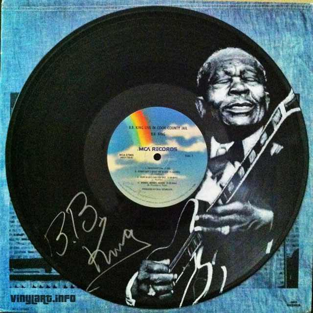 ציורים של מוזיקאים על תקליטים