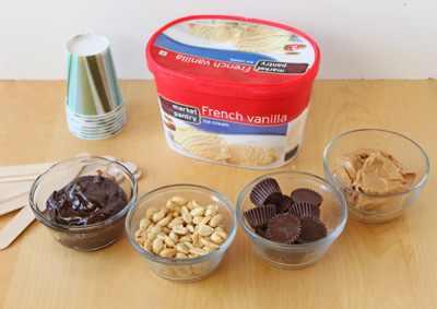גלידת חמאת בוטנים מפנקת