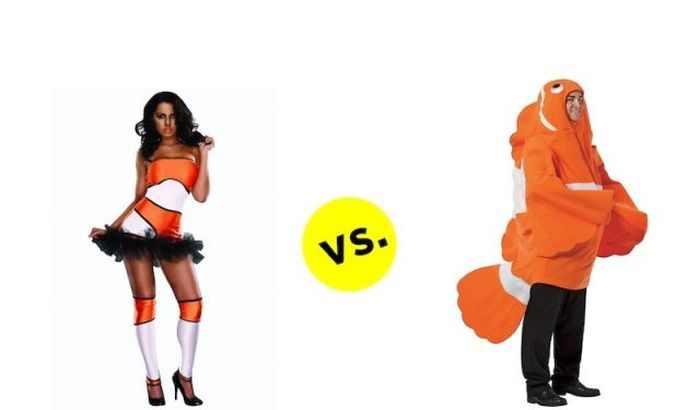 הבדל תחפושות גברים ונשים