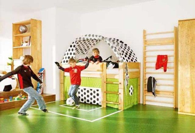 חדרי ילדים שהם גני שעשועים