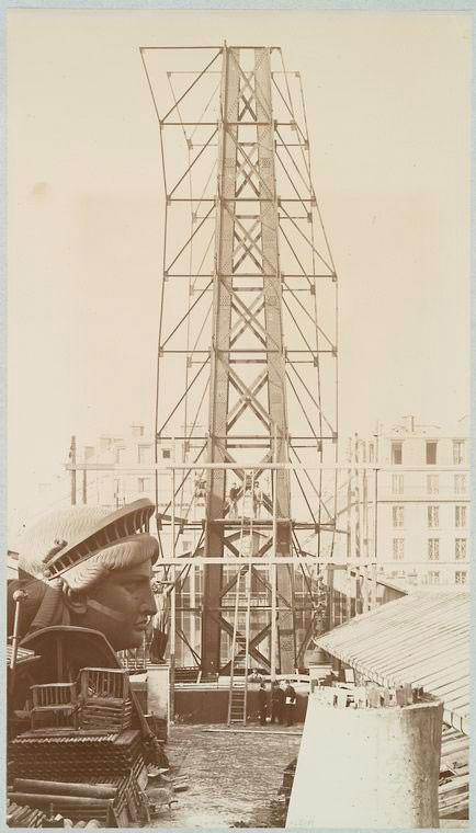 תמונות היסטוריות של בניית פסל החירות