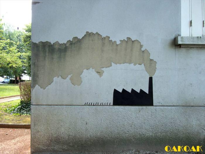 אמנות רחוב מקורית ומשעשעת