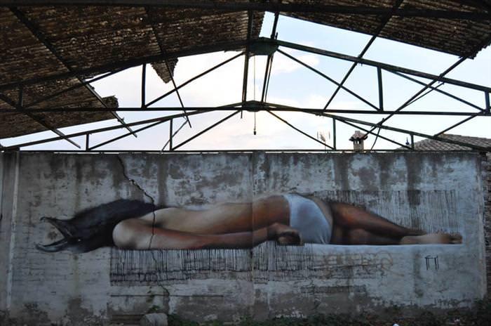 ציורי רחוב תלת מימדיים