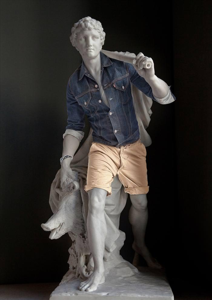 תמונות של פסלים לבושים
