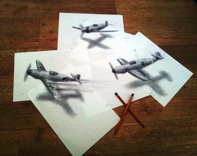 ציורי עיפרון בתלת מימד