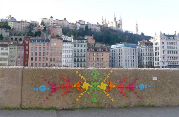 אומנות רחוב באוריגמי