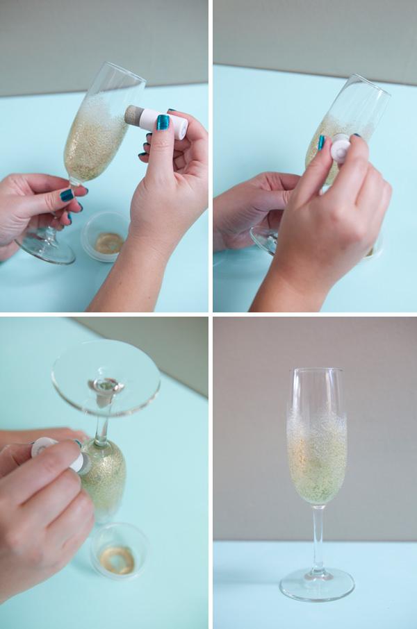 עשו זאת בעצמכם: כוסות שמפנייה מעוצבות