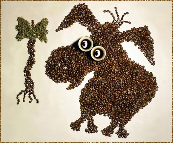 יצירות בקפה - אמנות מעוררת חושים!