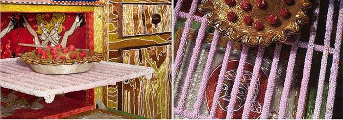 אמנית ציפתה בית בחרוזים