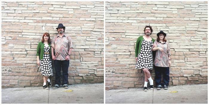 זוגות מחליפים בגדים