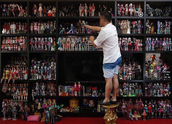 גבר אוסף ברביות