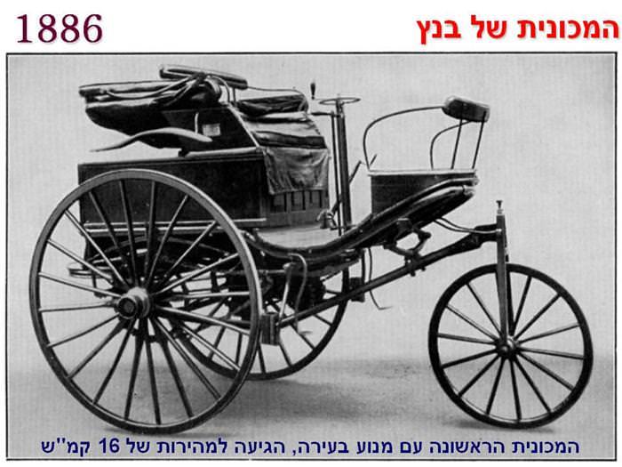 מכוניות - היסטוריה בתמונות