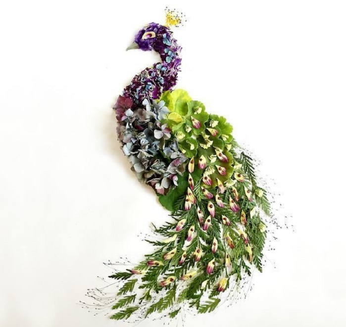 יצירות אומנות מפרחים