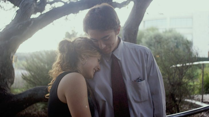 זוג מתחבק