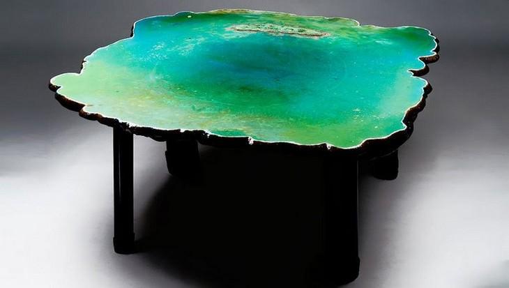 שולחן הלגונה הירוקה