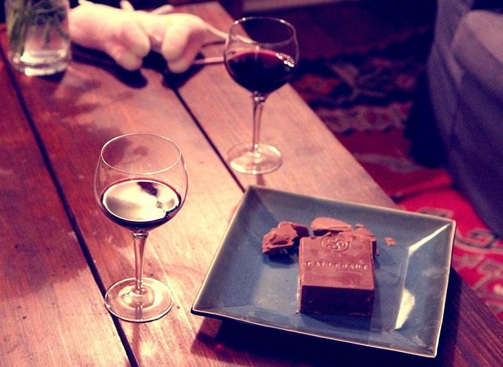 שוקולד ויין