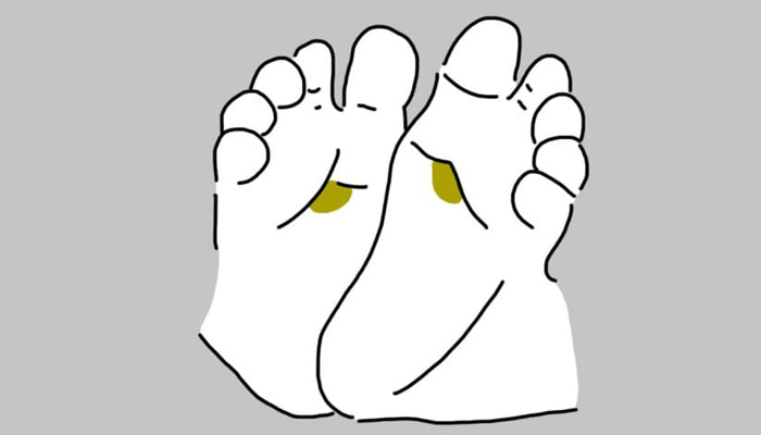 נקודות לחיצה בכף הרגל של התינוק
