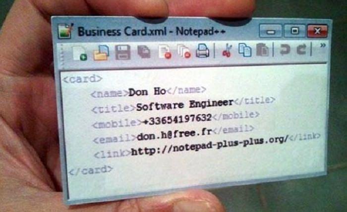 כרטיסי ביקור מקוריים