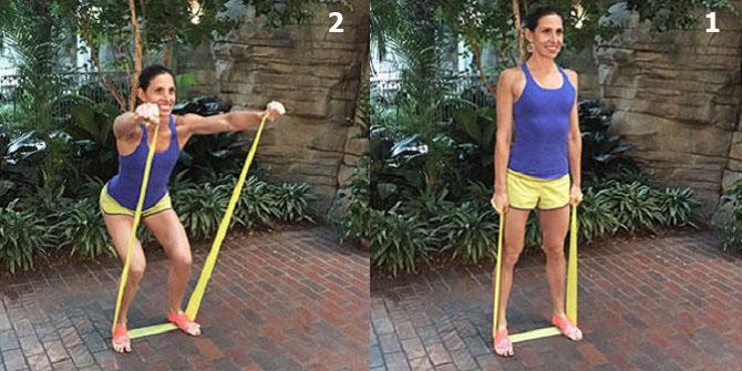 חיטוב זרועות בעזרת רצועת התנגדות