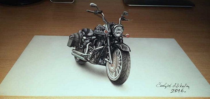 אופנוע בתלת ממד