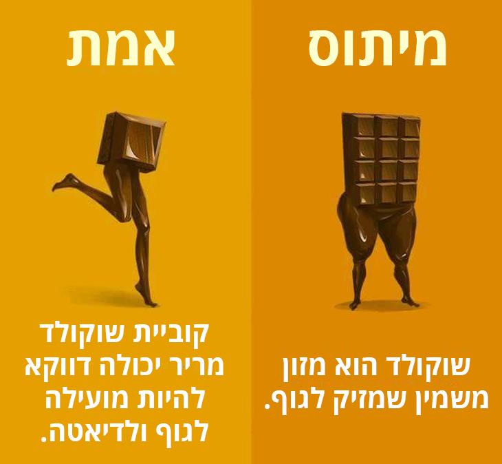 קוביית שוקולד מריר יכולה להועיל לבריאות ואפילו להרזייה.